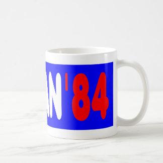 Reagan '84 basic white mug