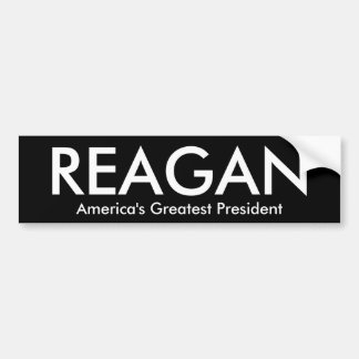 REAGAN, America's Greatest President Bumper Sticker