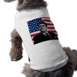 Reagan and The American Flag Sleeveless Dog Shirt