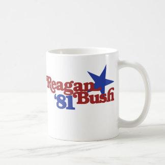 Reagan Bush 1981 Coffee Mugs