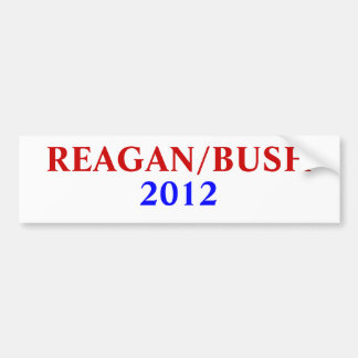 REAGAN/BUSH , 2012 BUMPER STICKER