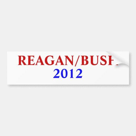 REAGAN/BUSH , 2012 BUMPER STICKER