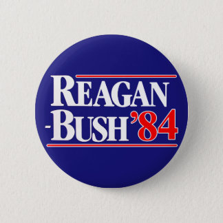 Reagan Bush 84 6 Cm Round Badge
