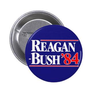 Reagan Bush 84 6 Cm Round Badge