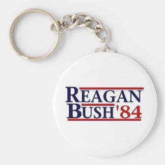 Reagan Bush '84 Basic Round Button Key Ring