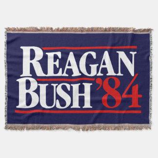 Reagan Bush '84 Campaign Throw Blanket