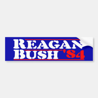 Reagan Bush '84 Stencil Bumper Sticker