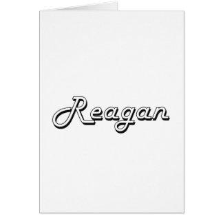 Reagan Classic Retro Name Design Greeting Card
