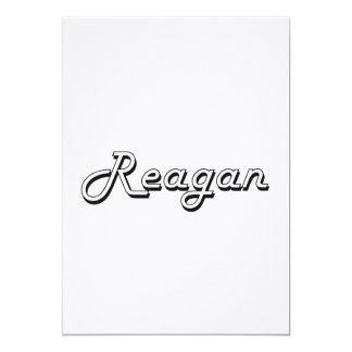 Reagan Classic Retro Name Design 5x7 Paper Invitation Card