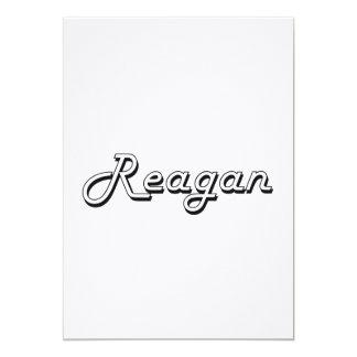 Reagan Classic Retro Name Design 13 Cm X 18 Cm Invitation Card