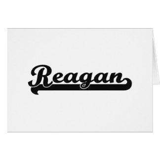 Reagan Classic Retro Name Design Note Card