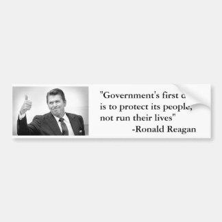 Reagan Governments First Duty Bumper Sticker