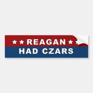 Reagan Had Czars Sticker Car Bumper Sticker