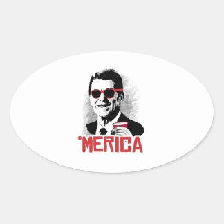 Reagan 'Merica Oval Sticker