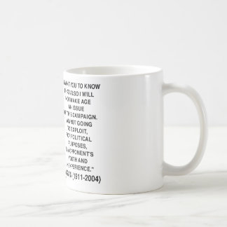 Reagan Not Make Age An Issue Campaign Youth Quote Basic White Mug