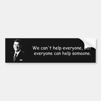 Reagan on Help and charity Bumper Sticker