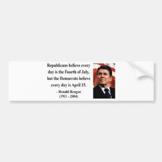 Reagan Quote 5b Bumper Sticker