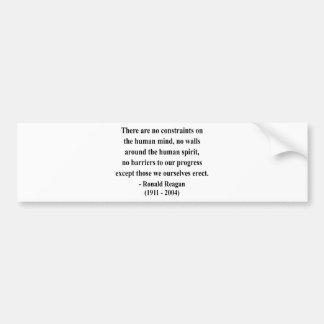 Reagan Quote 7a Bumper Sticker