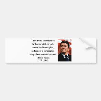 Reagan Quote 7b Bumper Sticker