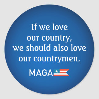 Reagan Quote Countrymen Unity MAGA 20xstickers Round Sticker