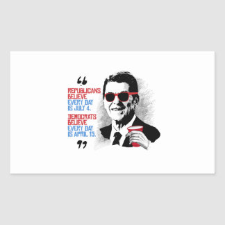 Reagan Quote - Every day is April Rectangular Sticker