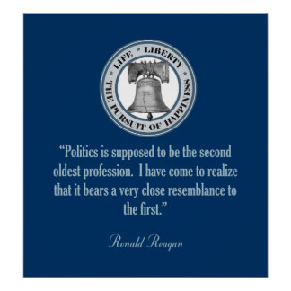 Reagan Quote (Oldest Profession) Poster