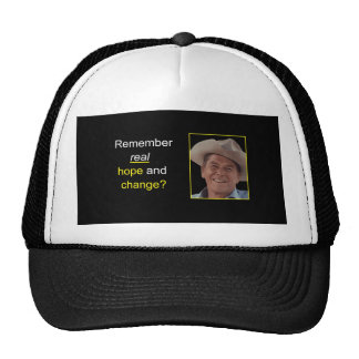 Reagan Remember Real Health & Change Hat