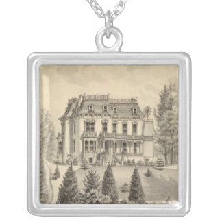 Reagan residence, Oakland, Alameda Co Silver Plated Necklace