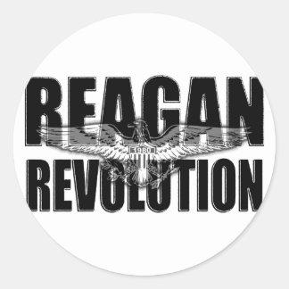 Reagan Revolution Round Sticker