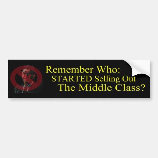 Reagan Started the Lies and Propaganda Bumper Stickers