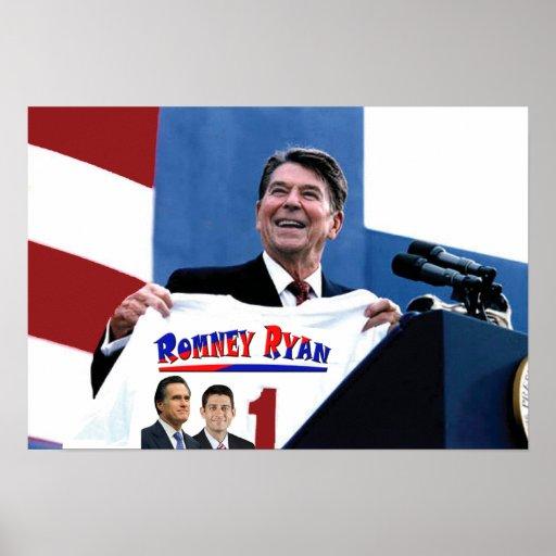 Reagan Supporting Romney-Ryan Print