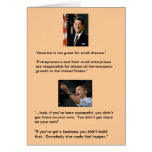 Reagan versus Obama Greeting Card