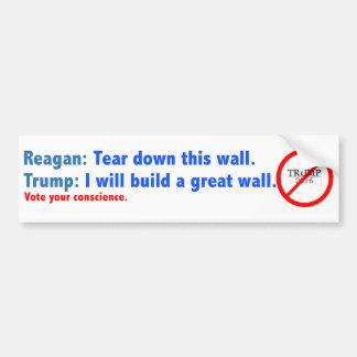Reagan versus Trump Bumper Sticker