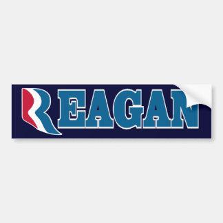 Reagan with Romney R Bumper Sticker Car Bumper Sticker