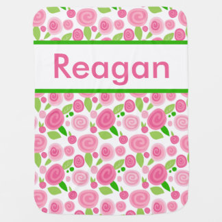 Reagan's Personalized Rose Blanket