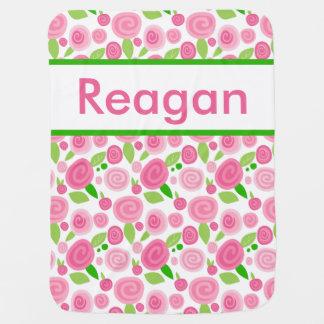 Reagan's Personalized Rose Blanket Baby Blanket