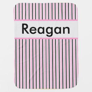 Reagan's Personalized Stripe Blanket