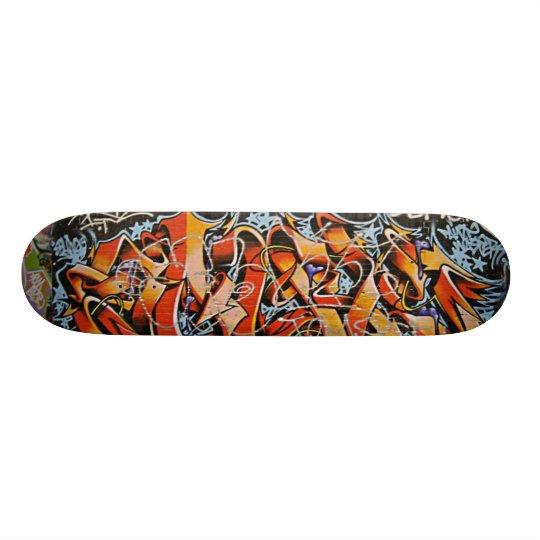 Real Abstract Graffiti Wall Skate Board