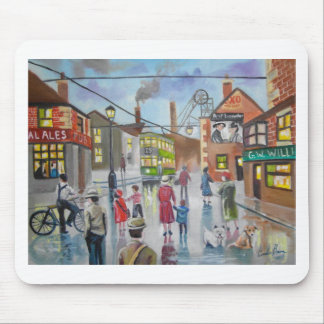 Real Ales Pub oil painting Gordon Bruce Mouse Pads