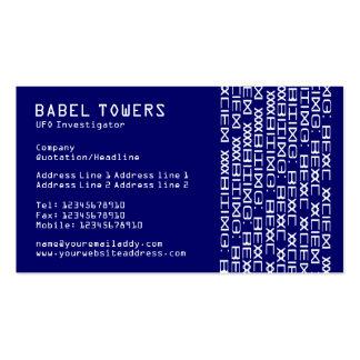 Real Alien Writing - Dark Blue Business Card Templates