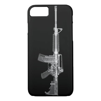 Real AR-15 CT SCAN FROM GUN HIGH DETAIL X-RAY iPhone 8/7 Case