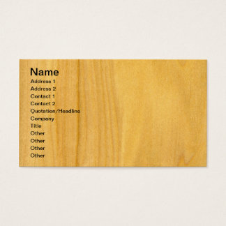 Real Aspen Veneer Woodgrain Business Card