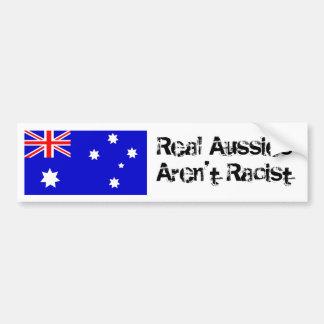 Real Aussies Aren t Racist Bumper Sticker