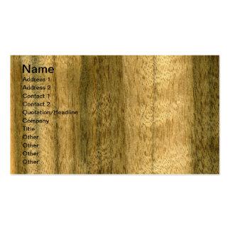 Real Australian Walnut Veneer Woodgrain Pack Of Standard Business Cards