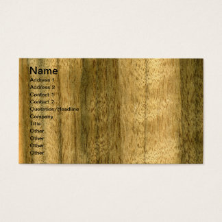 Real Australian Walnut Veneer Woodgrain Business Card