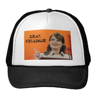 REAL CHANGE-SARAH PALIN TRUCKER CAP