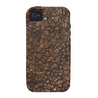 Real coffee beans pattern for caffeine lovers iPhone 4 case