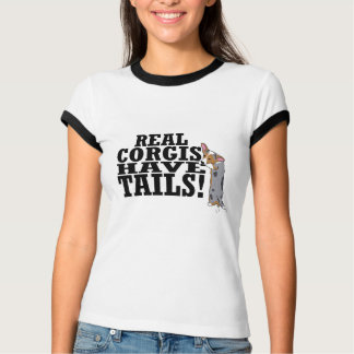 Real Corgis Have Tails Ladies T-Shirt