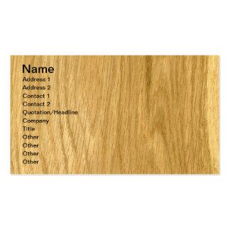Real Crown Cut Oak Veneer Woodgrain Pack Of Standard Business Cards