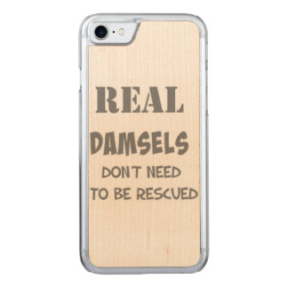 Real Damsels Carved iPhone 6/6s Slim Wood Carved iPhone 7 Case